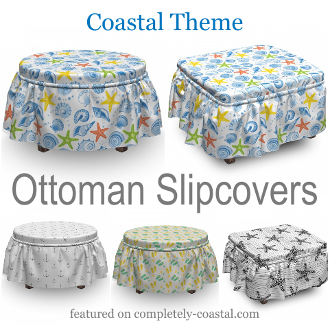 Coastal Ottoman Slipcovers