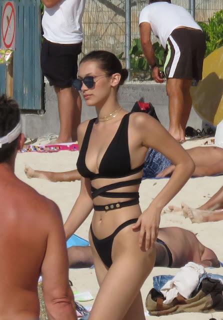 Bella Hadid Bikini Candids – St Barts