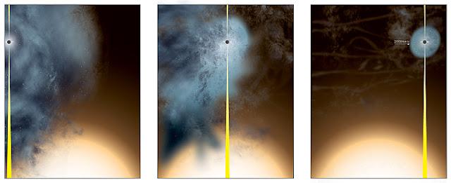 buraco negro supermassivo se desprende de sua galáxia