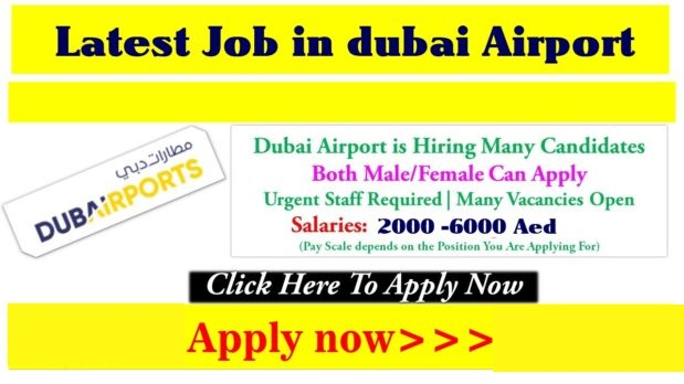 Jobs in Dubai Airport 2020 Dubai Airport Vacancies Online Apply