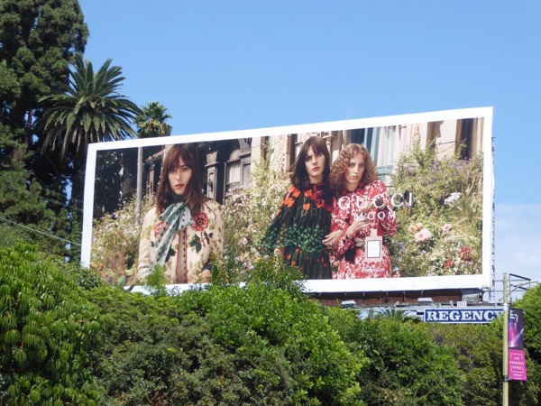 Gucci Bloom fragrance billboard