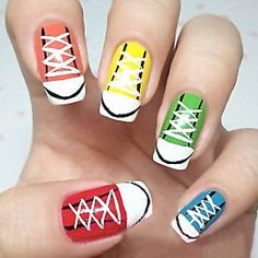 Sporty Look Nail Art Designs