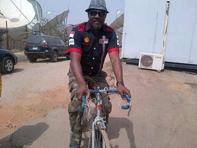 dino melaye riding bike
