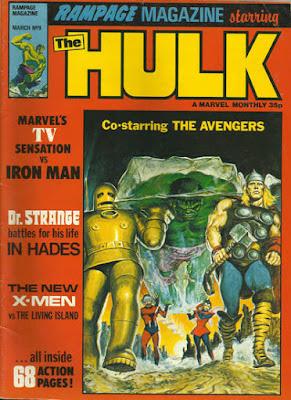 Rampage magazine #9, the Hulk vs the Avengers