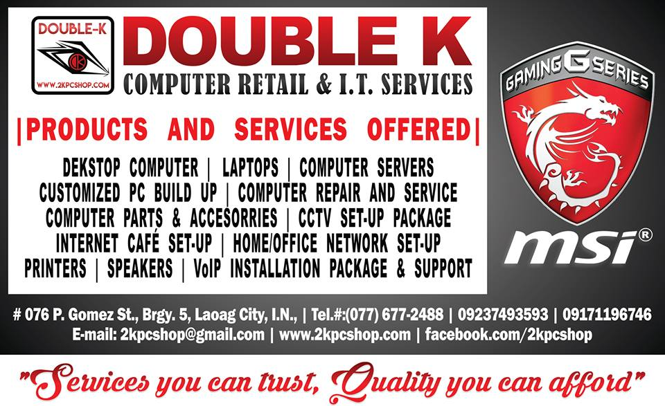 double k computer sales and it services pricelist