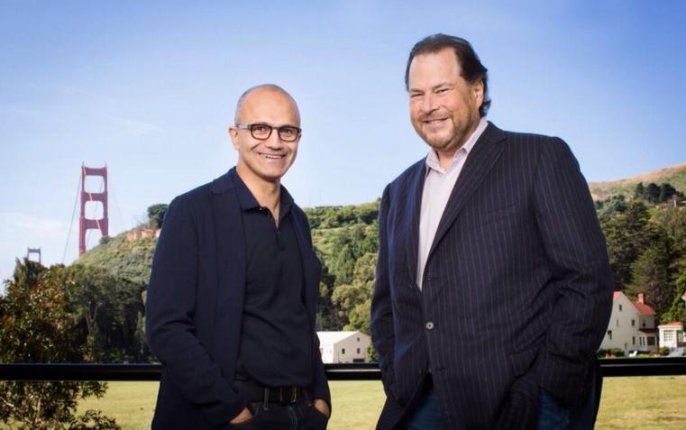 傳微軟有意當買主,Salesforce股價再飆漲,市值升到490億美元