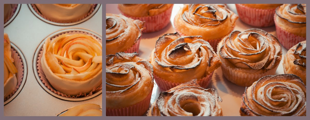 torten kreativ apfel rosen muffins rezept. Black Bedroom Furniture Sets. Home Design Ideas