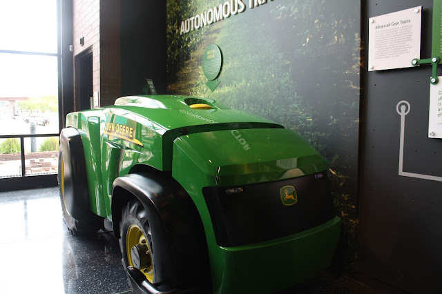 Driverless tractor at John Deere experience