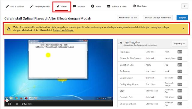 Cara Mengatasi Video Youtube yang Mencangkup Berhak Cipta