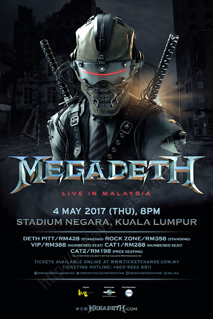 Poster Megadeth Live in Malaysia 2017