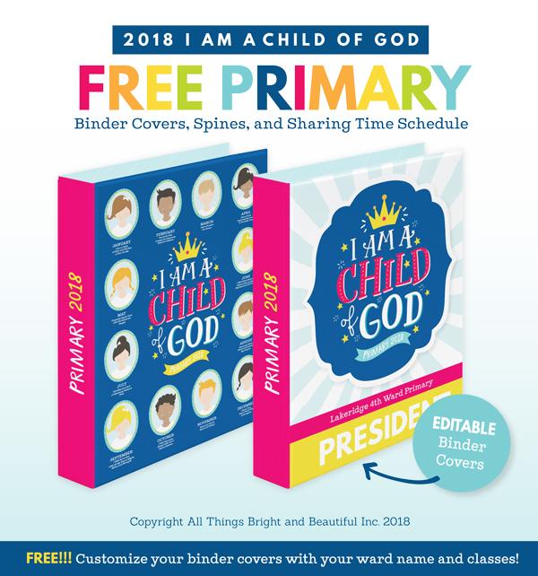 These FREE 2018 Primary Theme Printables