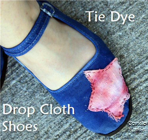 drop cloth tie dye shoes