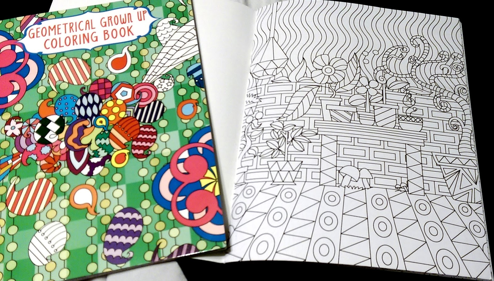 Inexpensive Geometric Grown Up Coloring Books Adult Shapes Colors Pencils Intricate Designs