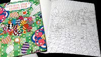 "inexpensive ""Geometric Grown Up Coloring Books"" adult shapes colors pencils intricate designs"