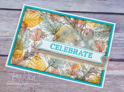 Celebration Card with Vintage Autumn Leaves made using Stampin' Up! UK supplies which you can buy here