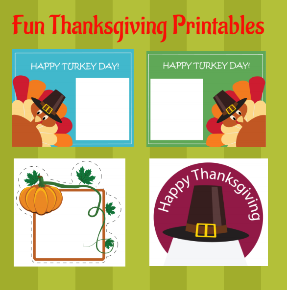 Fun DIY Thanksgiving Idea Printables  via  www.productreviewmom.com