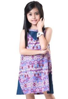 Model baju batik anak perempuan usia 5 tahun