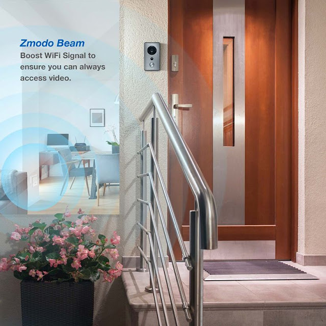 Wireless Video Doorbell Security for Samsung Galaxy S7 Edge / S8 Plus