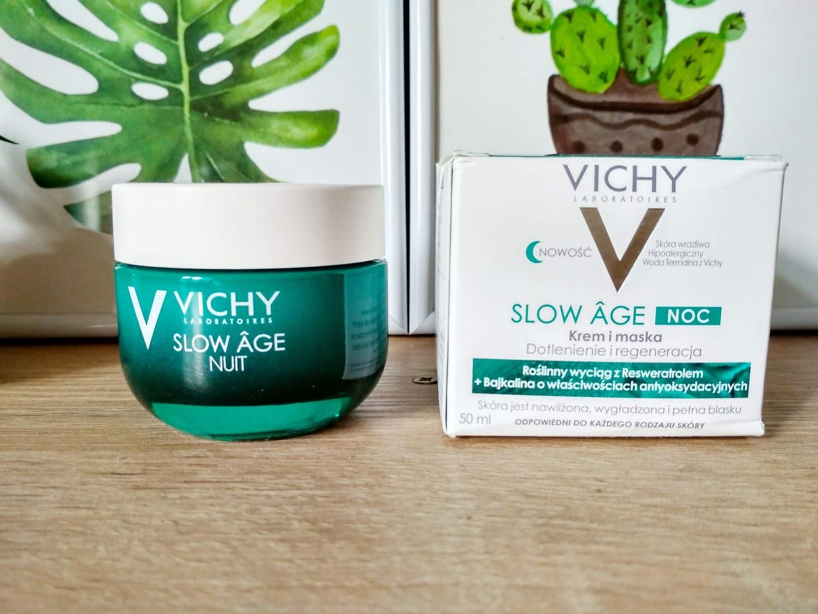 Recenzja - Vichy  Slow Age krem i maska dotlenienie i regeneracja
