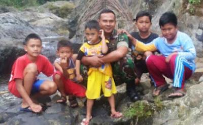 Anak-Anak di Desa Rempoah Terobsesi Ingin Jadi Tentara