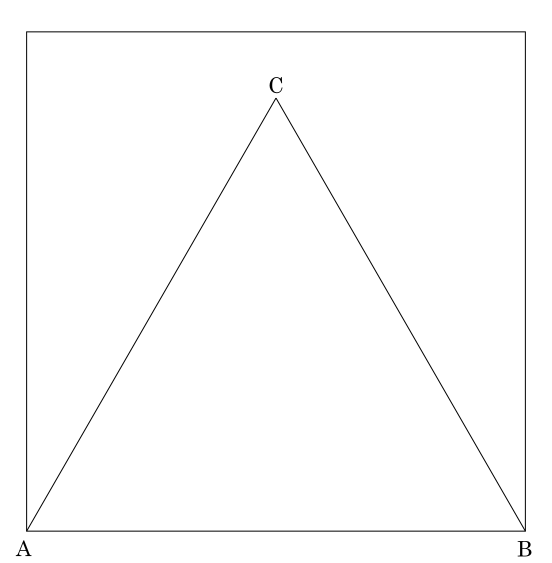 Origami: Construção de um triângulo equilátero - passo 3