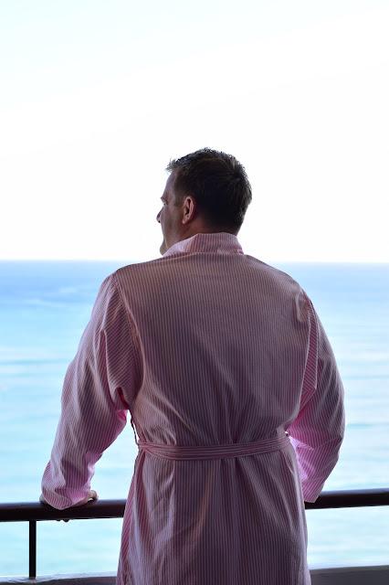 royal hawaiian pink robe