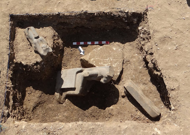 Trove of statues of lion-headed goddess Sekhmet found in Luxor