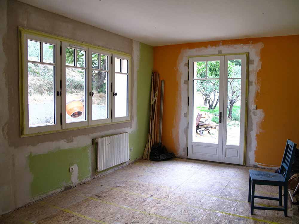 Chantier de l'atelier - Des fenêtres, enfin!
