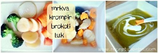 Brokula, mrkva, krompir i luka za bebe