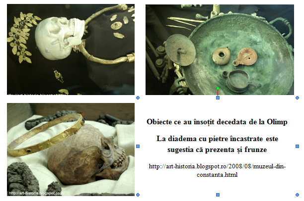 Obiecte descoperite la Olimp