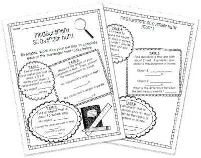 Classroom Freebies: Measurement Scavenger Hunt