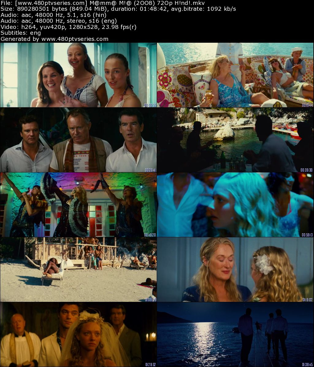Download Mamma Mia! (2008) 850MB Full Hindi Dual Audio Movie Download 720p Bluray Free Watch Online Full Movie Download Worldfree4u 9xmovies