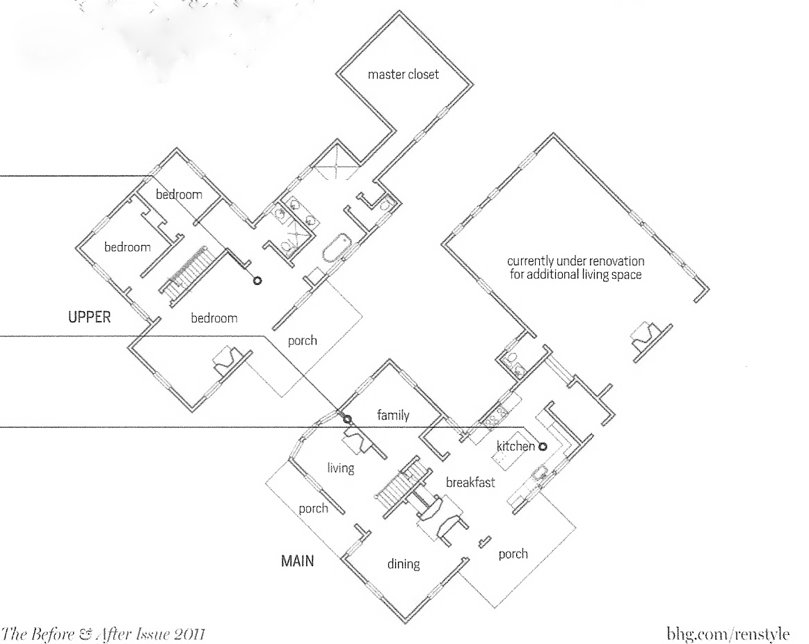 Night Of The Living Dead Farmhouse For The Love Of A House The Farmhouse Floor Plan