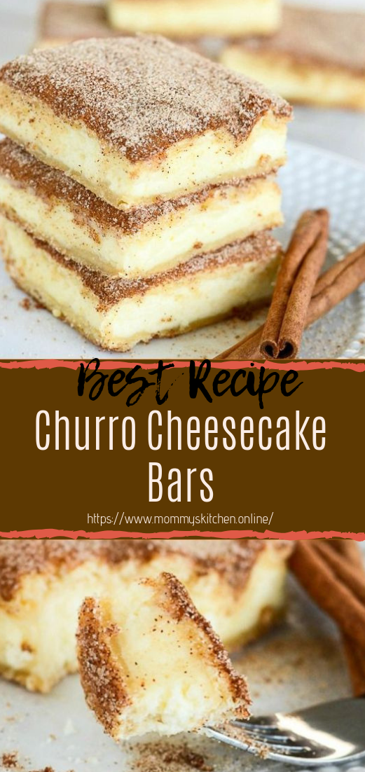 Churro Cheesecake Bars #desserts #cakerecipe