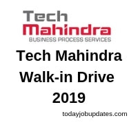 Tech Mahindra Walk-in Drive 2019