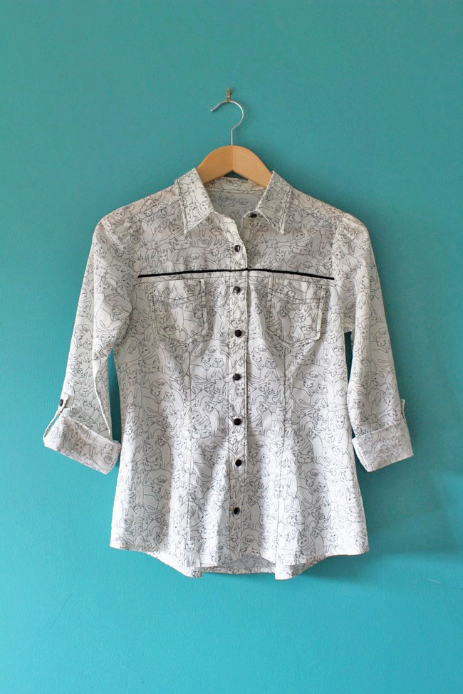 Kitty Rosa shirt - Tilly and the Buttons