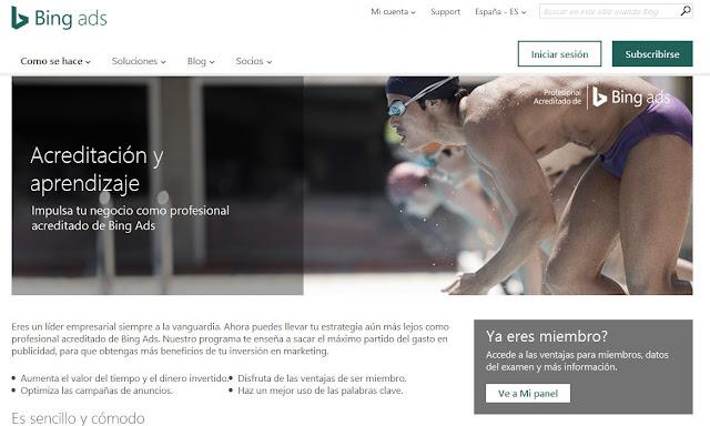 Consigue el certificado Online gratuito de Bing Ads en Marketing Digital
