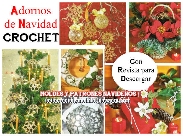 patrones crochet para adornos de navidad con revista gratis para descargar