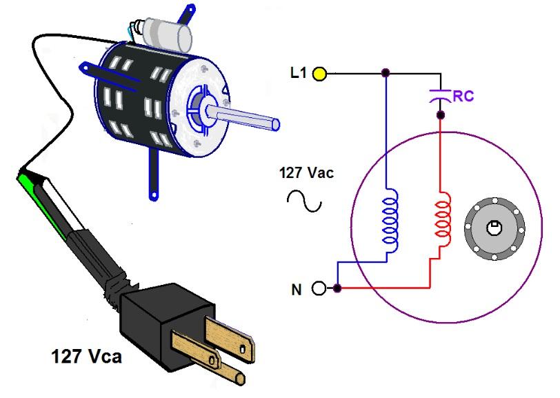 Motor De Arranque Con Capacitor De Marcha Capacitacion Manual De Ingeneria Electrica