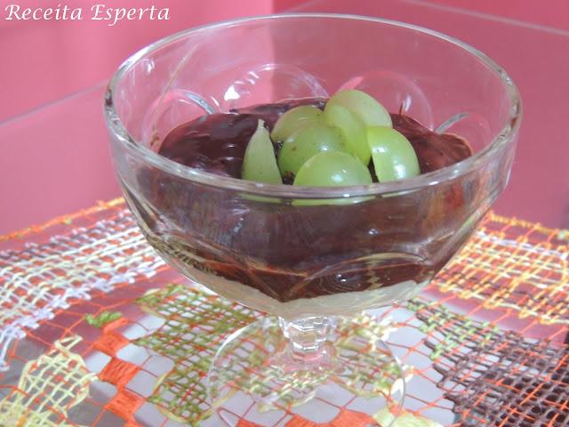 bombom aberto de uva