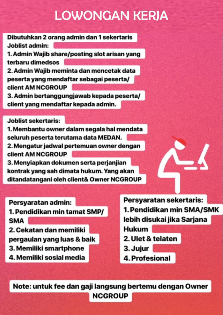 Info Loker Medan Terbaru Di Nc Group Medan Medanloker Com Lowongan Kerja Medan