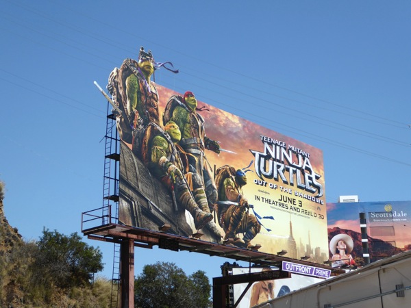 Teenage Mutant Ninja Turtles Out of the Shadows billboard