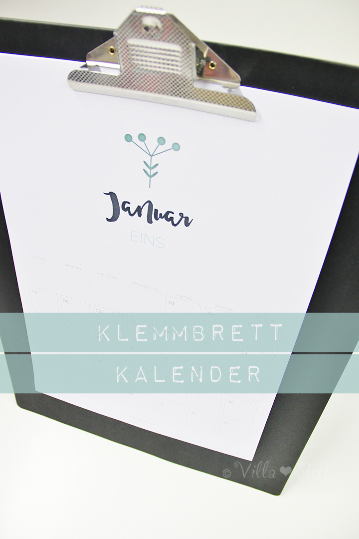 DIY Klemmbrett Kalender