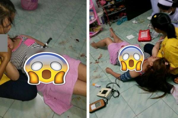 Gara-gara Terpeleset di Dapur, Perut Ibu Hamil ini Tertusuk Pisau