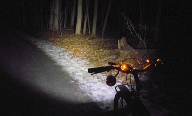 Winter in Vermont can often provide a bike rider with snow-free bike paths.