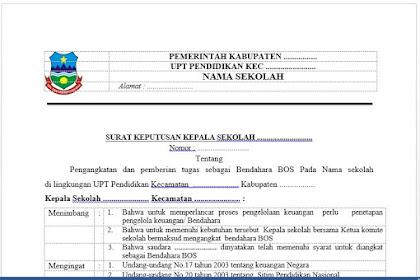 Contoh SK Tim Manajemen BOS