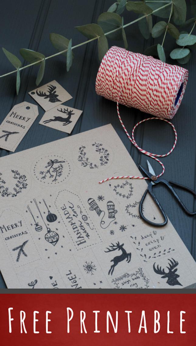 etiquetas regalos imprimibles gratis navidad