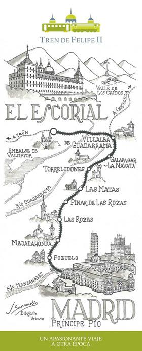 El Tren de Felipe II entre Príncipe Pío y El Escorial.