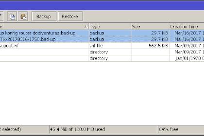 Cara Backup dan Restore Konfigurasi Router Mikrotik