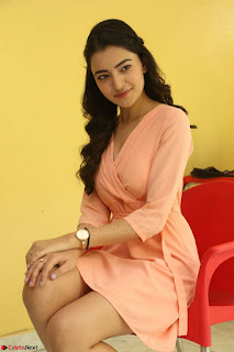 Rukshar Mir in a Peachy Deep Neck Short Dress 027.JPG